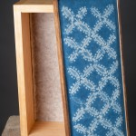 Shibori on calico with oak box