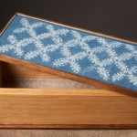 Box with shibori lid